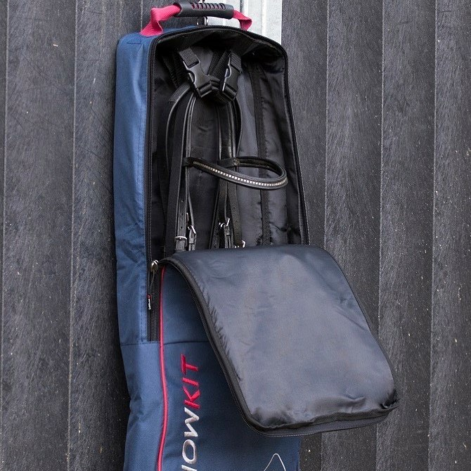 LeMieux ProKit System Luxury Bridle Bag-Navy